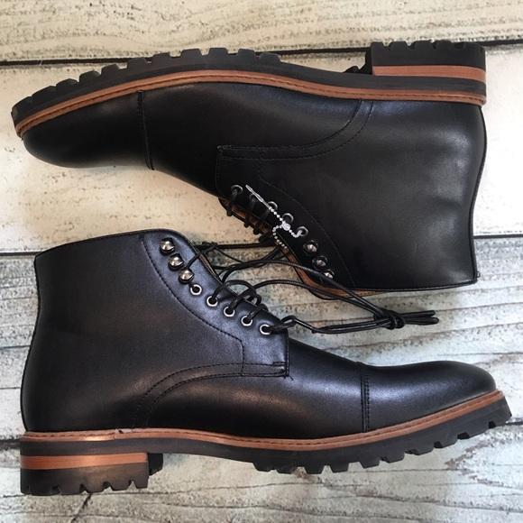 c518680b2406a6 New Rush Gordon Rush black men s boots lace up 9